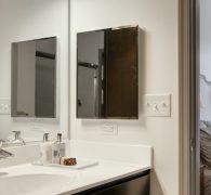 Bathrooms with built-in linen storage